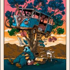 """""""Guitar for Pandas"""" art print by Tim Doyle now ONSALE! (Coachella art print)"""