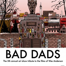 """Bad Dads""- SpokeArt opening this weekend- new print by Doyle"