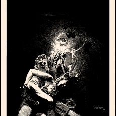 "In time for Halloween! ""Dark as a Dungeon"" art print by Wrightson!"