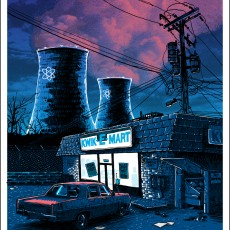 BLACK FRIDAY- 'Night Falls on the SNPP' OVERSIZED GLOW edition- available at SpokeArt!