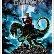 "DRUNKEN PROMISES- ""Jurassic Galaxy"" print- on sale 1/7 at 2pm CENTRAL"