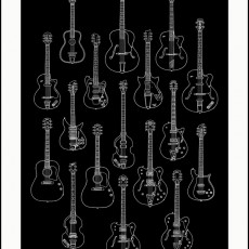 Meet the Guitars! and Fab Four prints by Jacob Borshard- now on sale-
