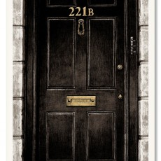 """221B Baker Street""- Sherlock Holmes Kickstarter print by Nick Derington!"