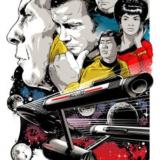 "Star Trek ""To Boldly Go"" print by Josh Budich- on sale info!"