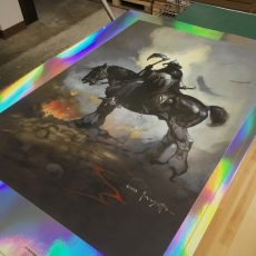 FRAZETTA: Worlds- Death Dealer and Silver Warrior printed! Shipping soon!