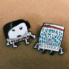 Evil Mr. Paper / Ms. Paper pins by Mei!