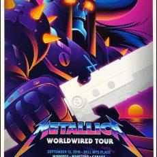 Metallica- 9/13 Winnipeg print by SIGNALNOISE!