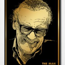 """THE MAN"" gold foil- Stan Lee tribute by Josh Budich"