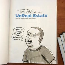 Get an original sketch w/ purchase of UnReal Estate book! LIMITED OFFER