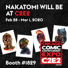 We're at C2E2 – Chicago Comic-Con 2/28 – 3/1 Booth #1829!