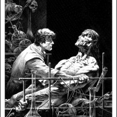 """Features as Beautiful"" Wrightson Frankenstein print- this Wednesday!"
