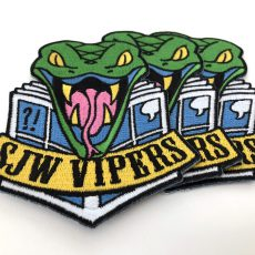 NEW! SJW VIPERS and GAY WRATH pins and patches from Joe Glass and Gavin Mitchell!