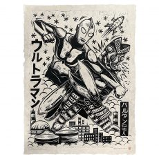 """NEW! """"Ultraman vs. Alien Baltan""""print from Attack Peter! Drops Tue 19th @ 2pm Central! Be there!"""